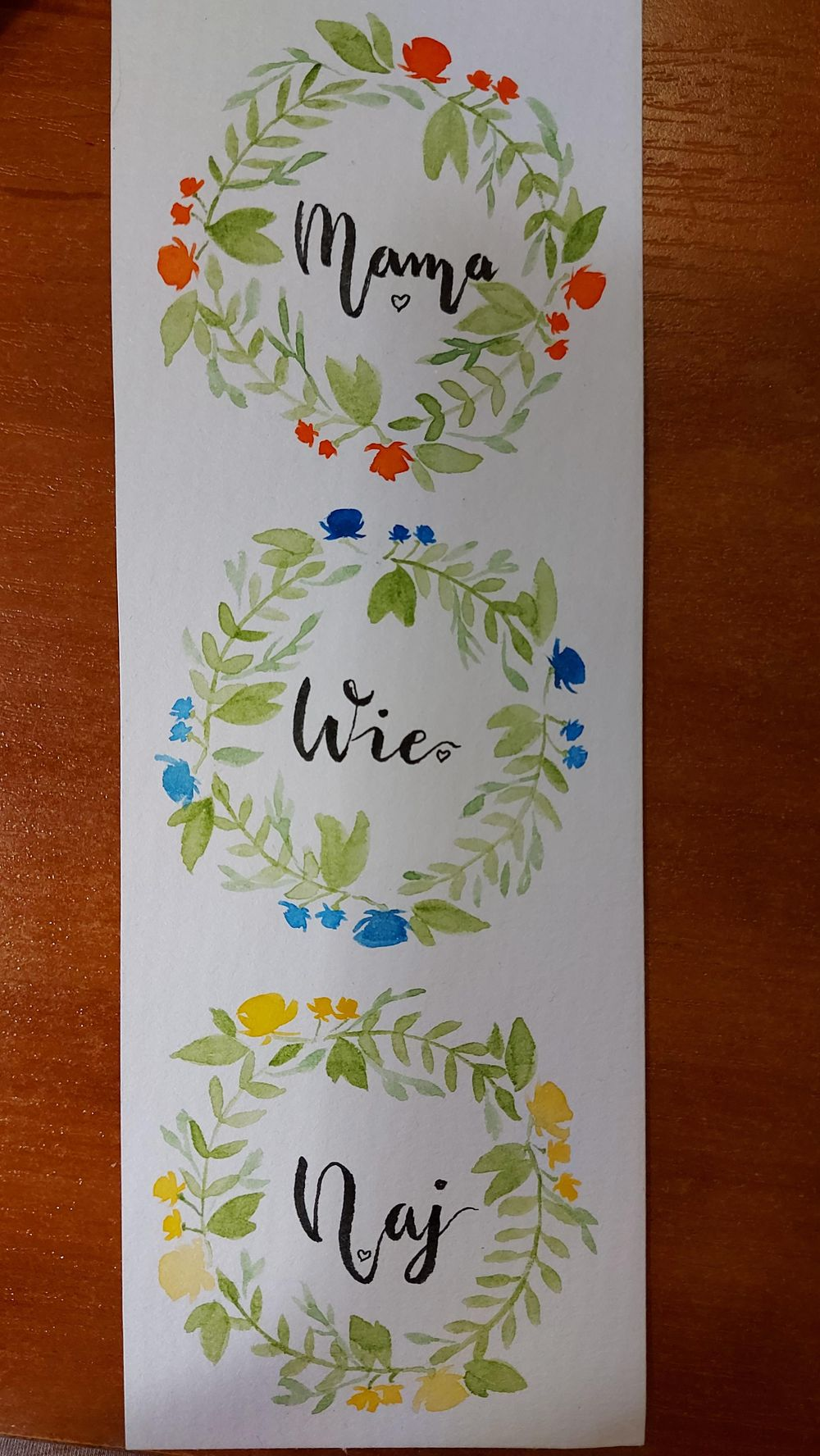 Medium wreaths and little bookmark wreath - image 1 - student project