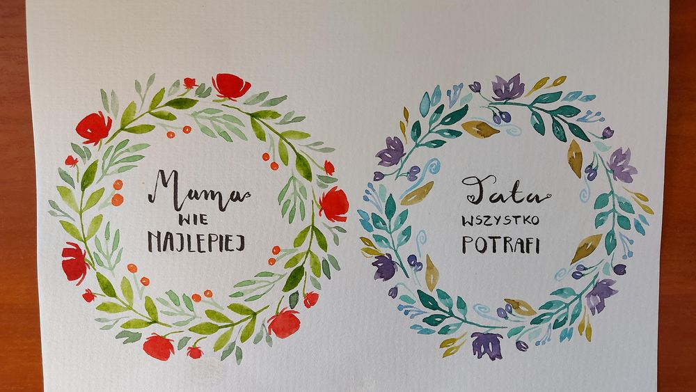 Medium wreaths and little bookmark wreath - image 2 - student project