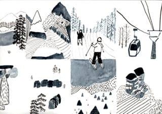 Inky Ski Postcards - image 1 - student project