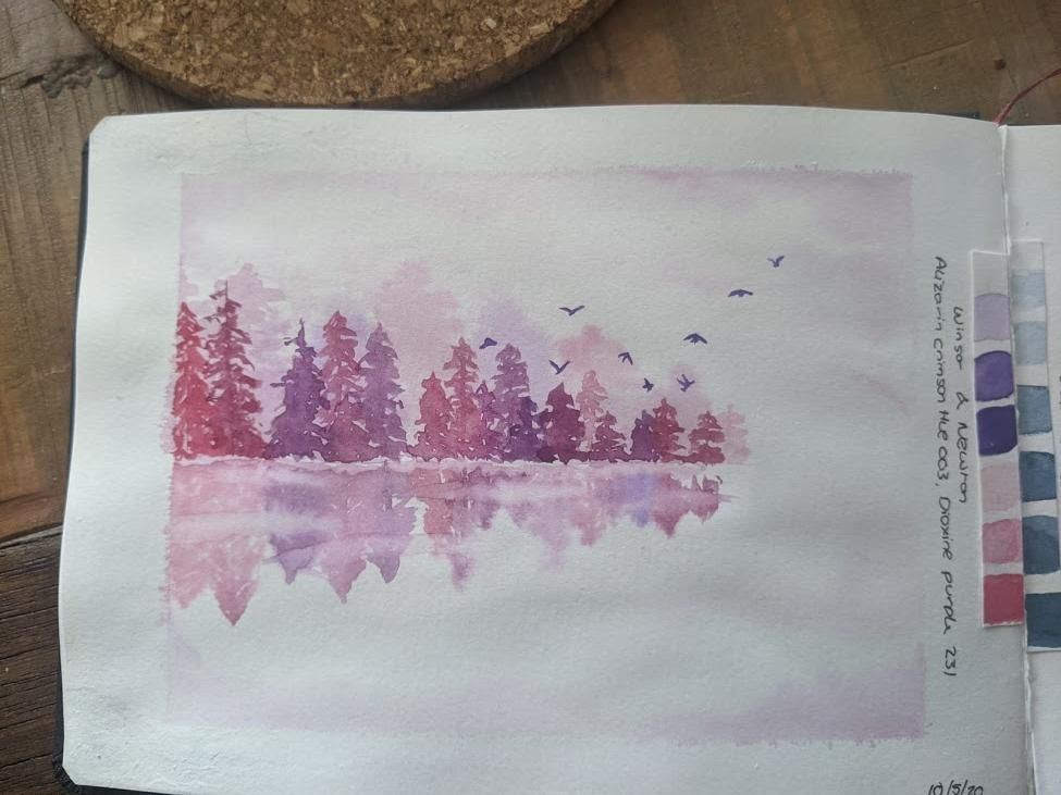Pink and Purple trees - image 1 - student project