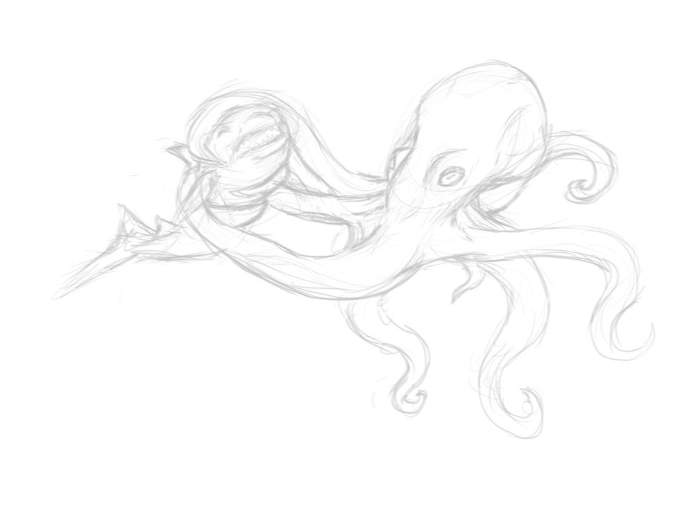 Octopus Attacks Shark - image 3 - student project