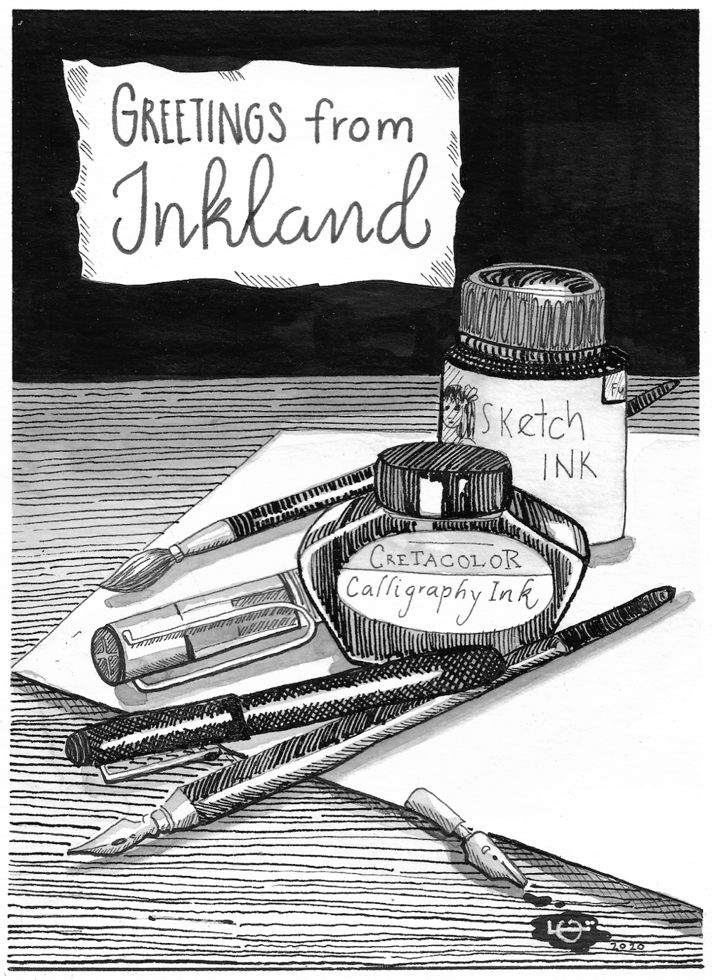 Greeting from Inkland - image 1 - student project