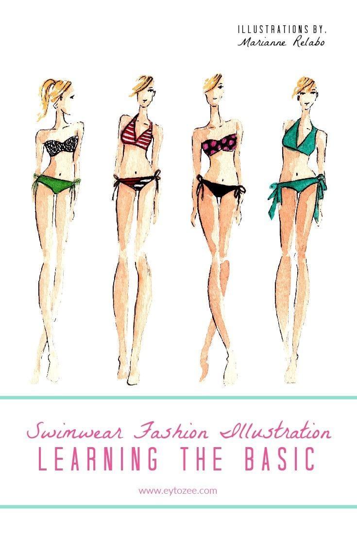 Swimwear Fashion Illustration - image 1 - student project
