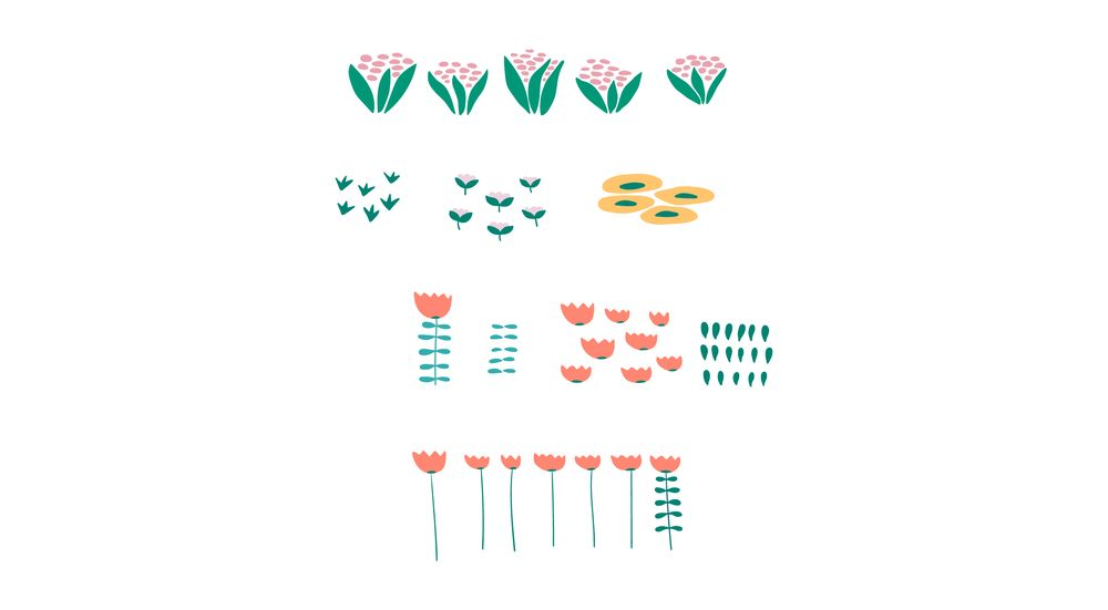 Wildflowers pattern - image 3 - student project