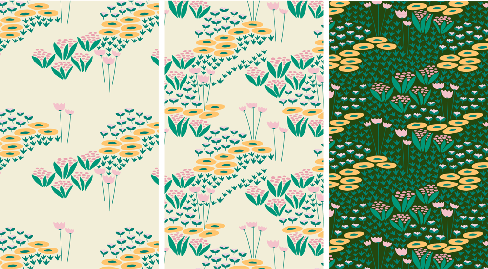 Wildflowers pattern - image 4 - student project