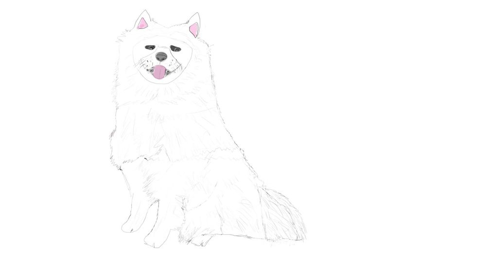 Kroq Gar and a samoyed pup - image 2 - student project