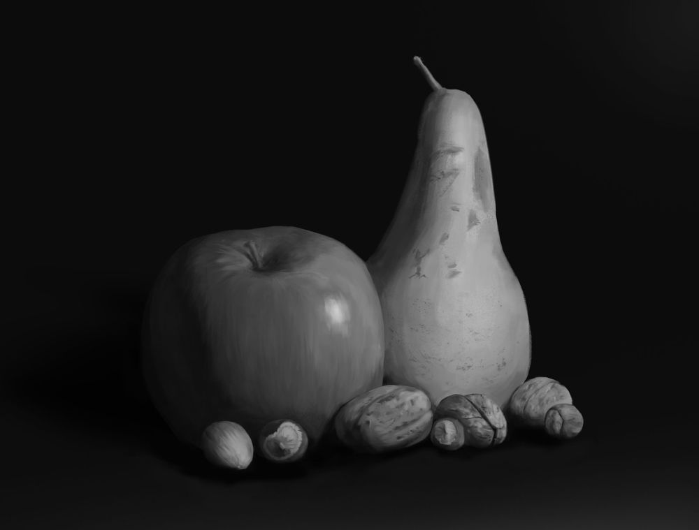 Still Life - Fruits and Nuts - image 2 - student project