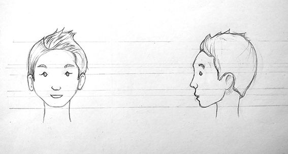Little boy, front & side view - image 1 - student project