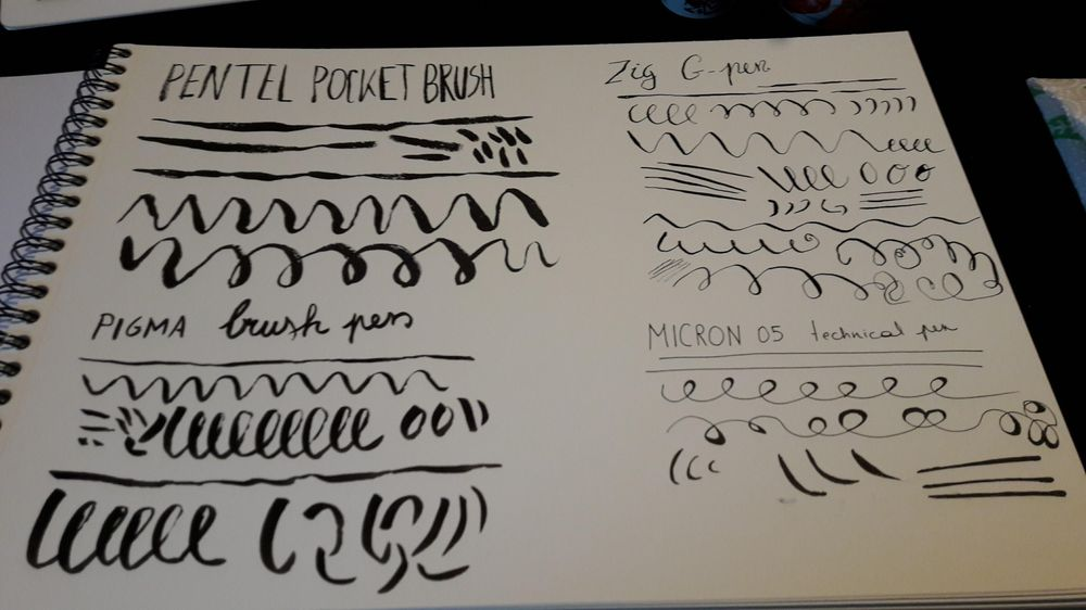 Inking exercises - image 1 - student project