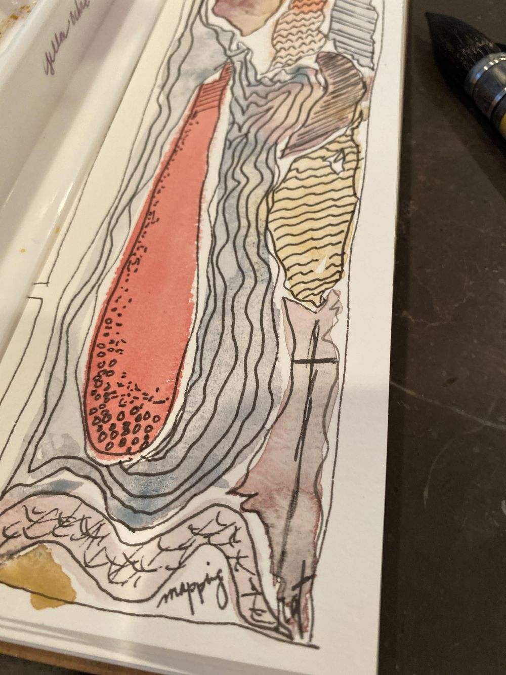 Watercolor marks/ abstract - image 2 - student project