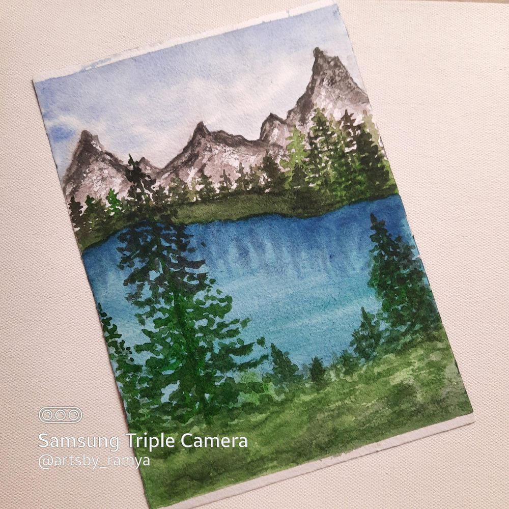 Watercolor Green Forest Landscapes with Suhasini - image 1 - student project
