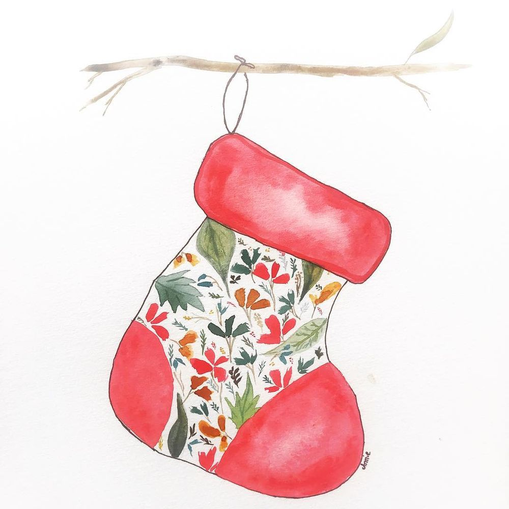 The stocking was hung on a gum in the backyard... - image 1 - student project