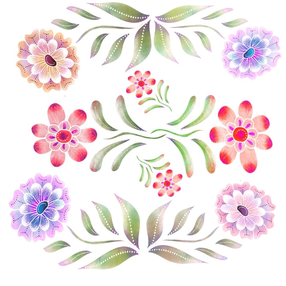 Flower design - image 1 - student project