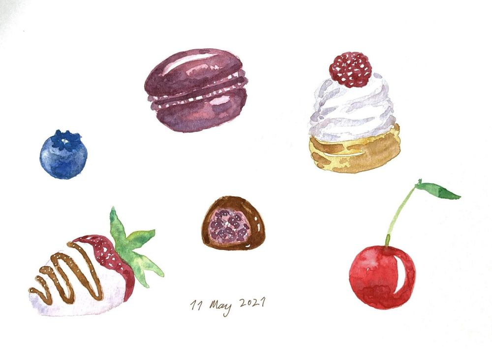 Fun, relaxed food paintings - image 4 - student project