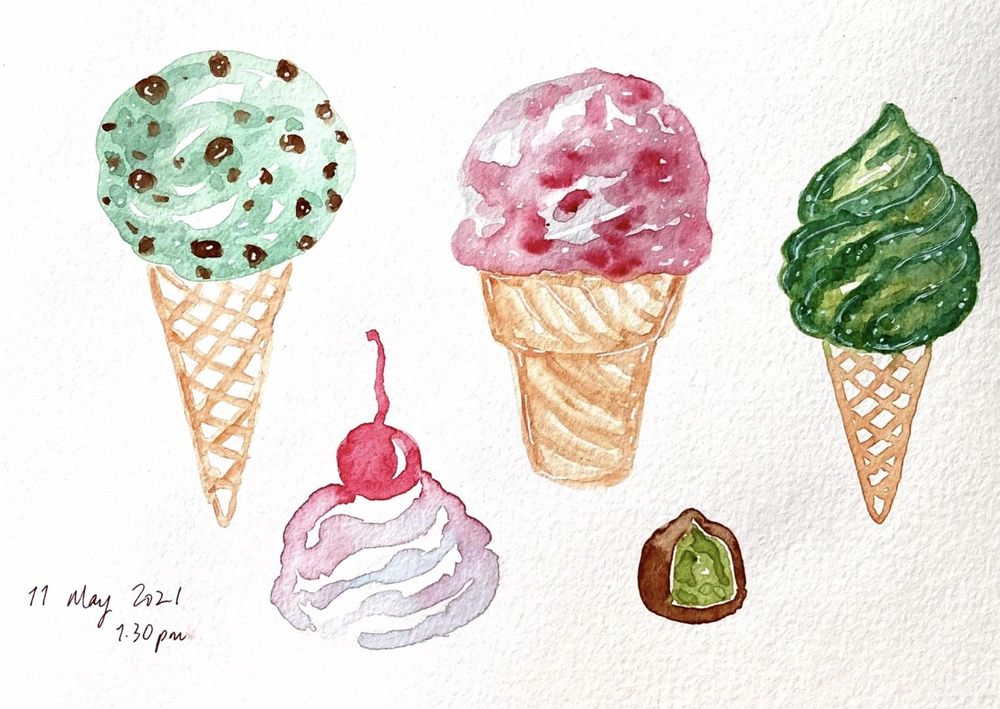 Fun, relaxed food paintings - image 3 - student project