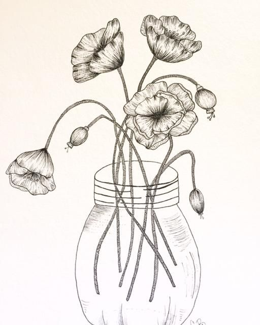 Poppies in a Mason Jar - image 3 - student project