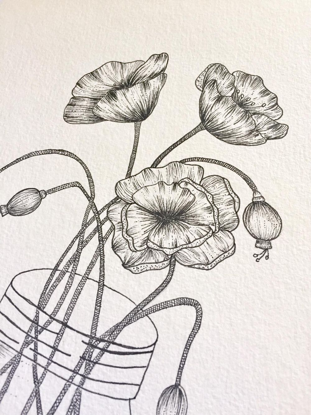 Poppies in a Mason Jar - image 2 - student project