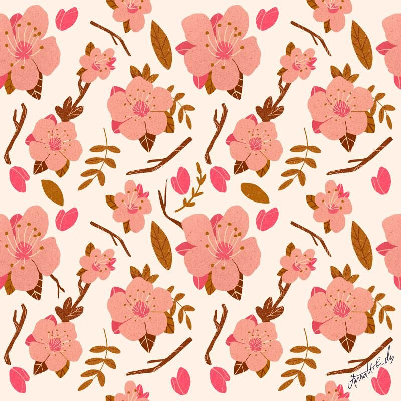 Almond Blossom Pattern - image 1 - student project