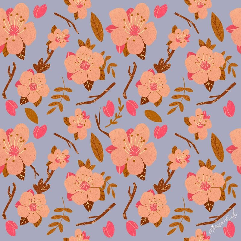 Almond Blossom Pattern - image 3 - student project