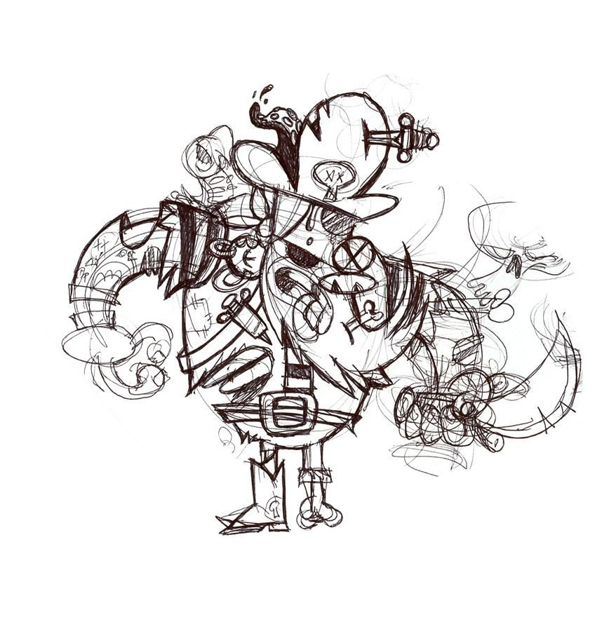 ZOMBIE PIRATE FROM THE SWAMP - image 1 - student project