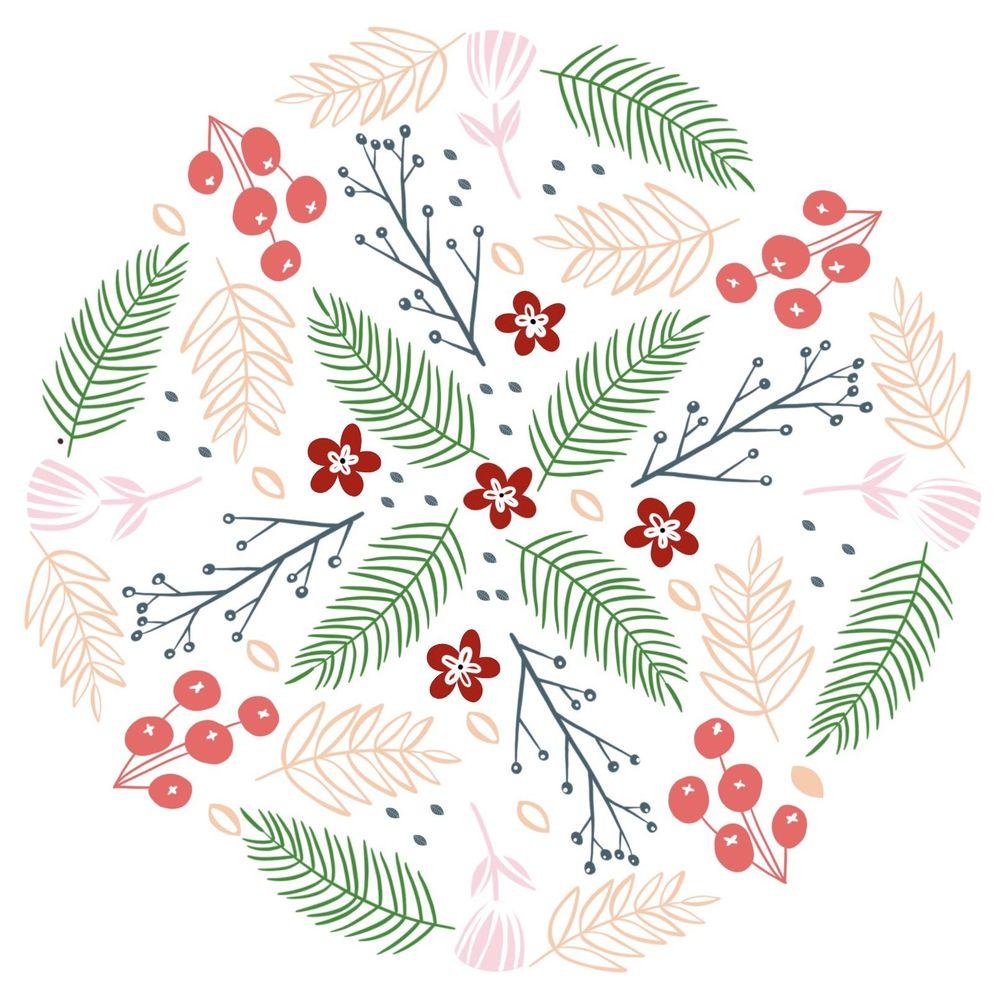 Modern Floral Mandala - image 1 - student project