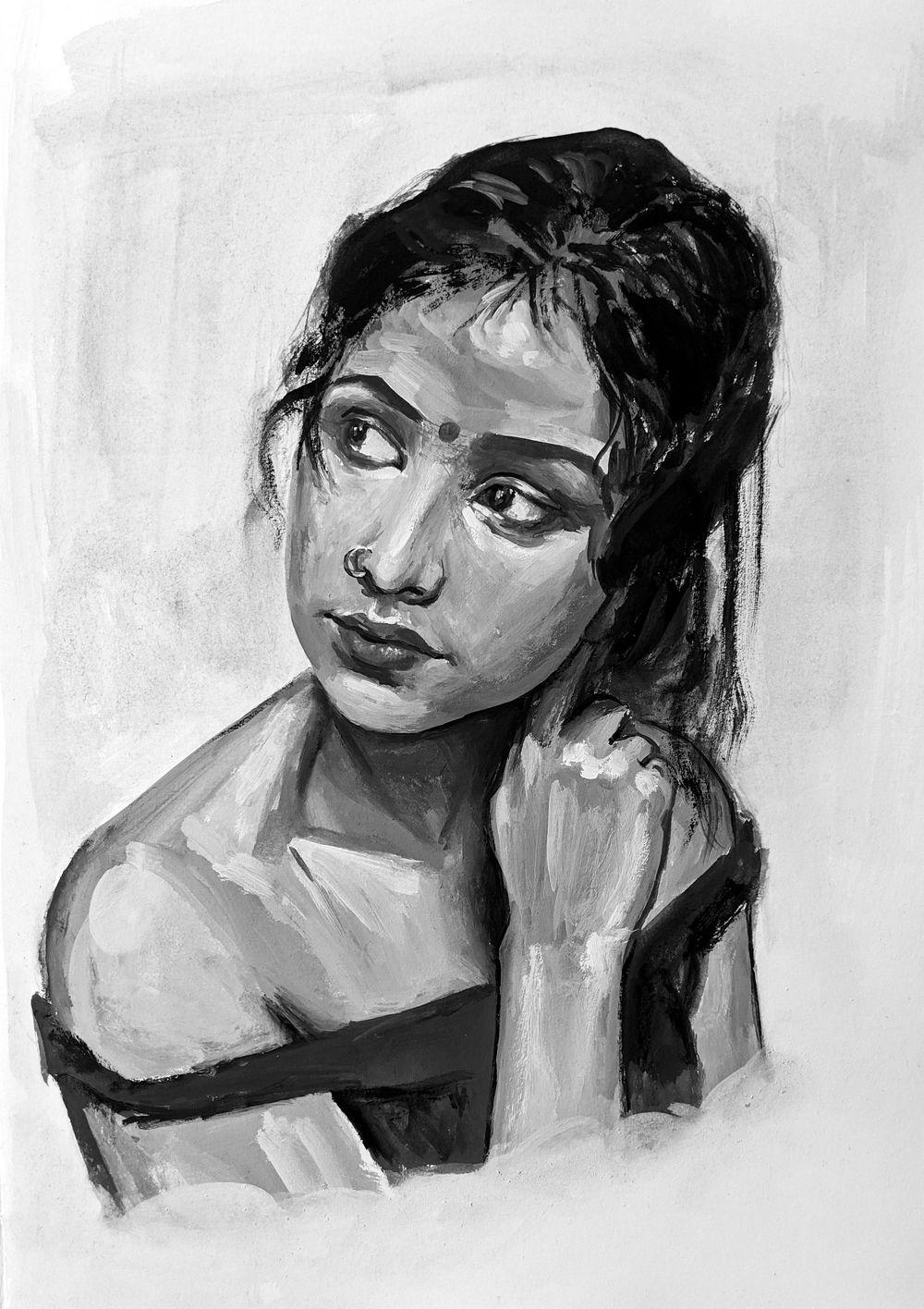 Monochrome Portrait - image 1 - student project