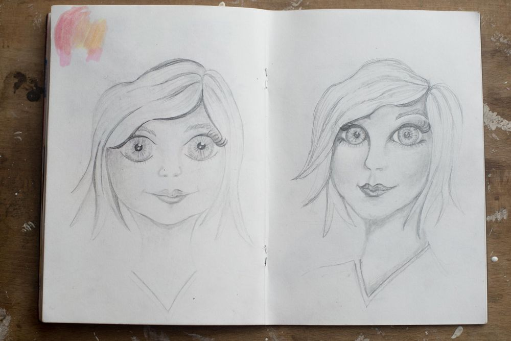 Female character sketches - image 2 - student project