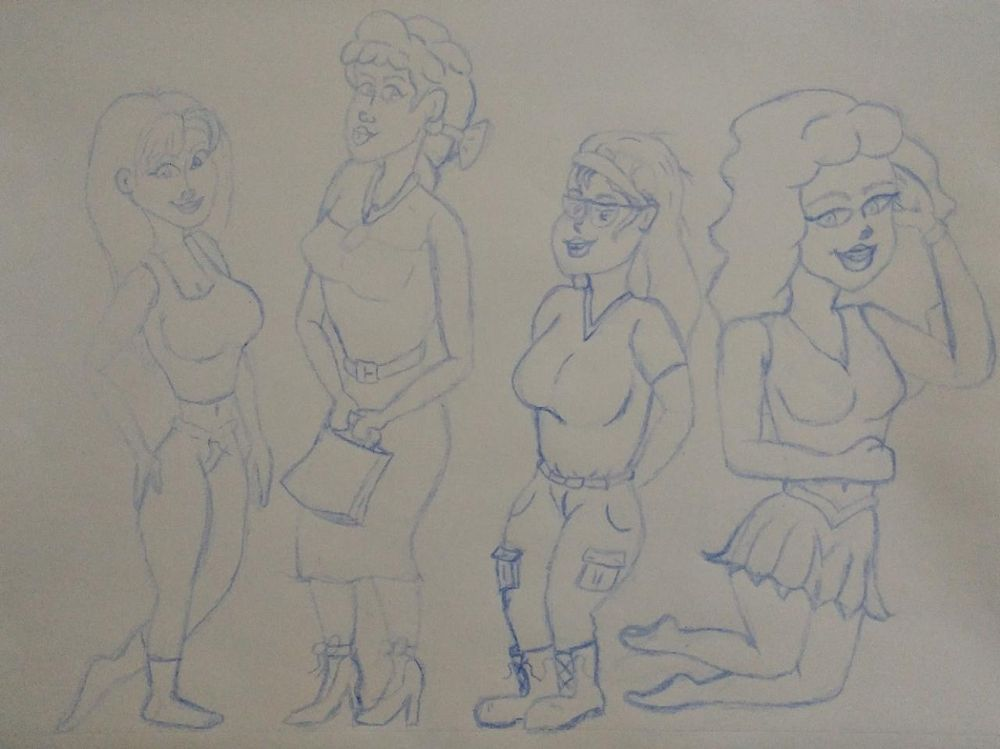 Character design, attractive female characters - image 1 - student project