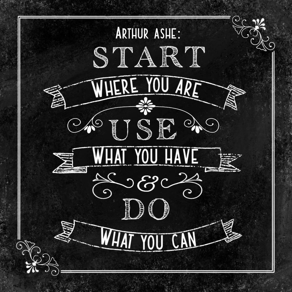 Arthur Ashe quote - image 1 - student project