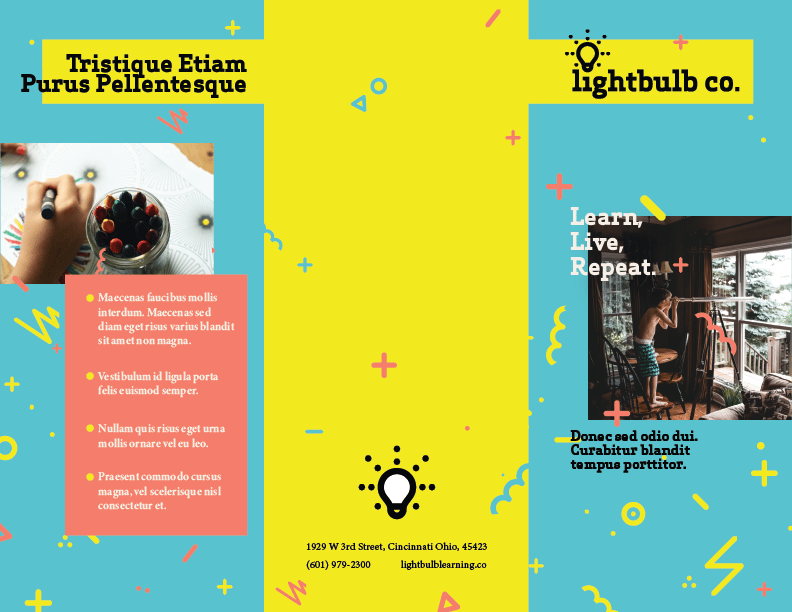 Lightbulb co. Brochure - image 1 - student project