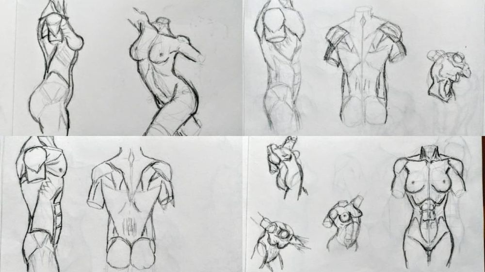 Torso sketches - image 1 - student project