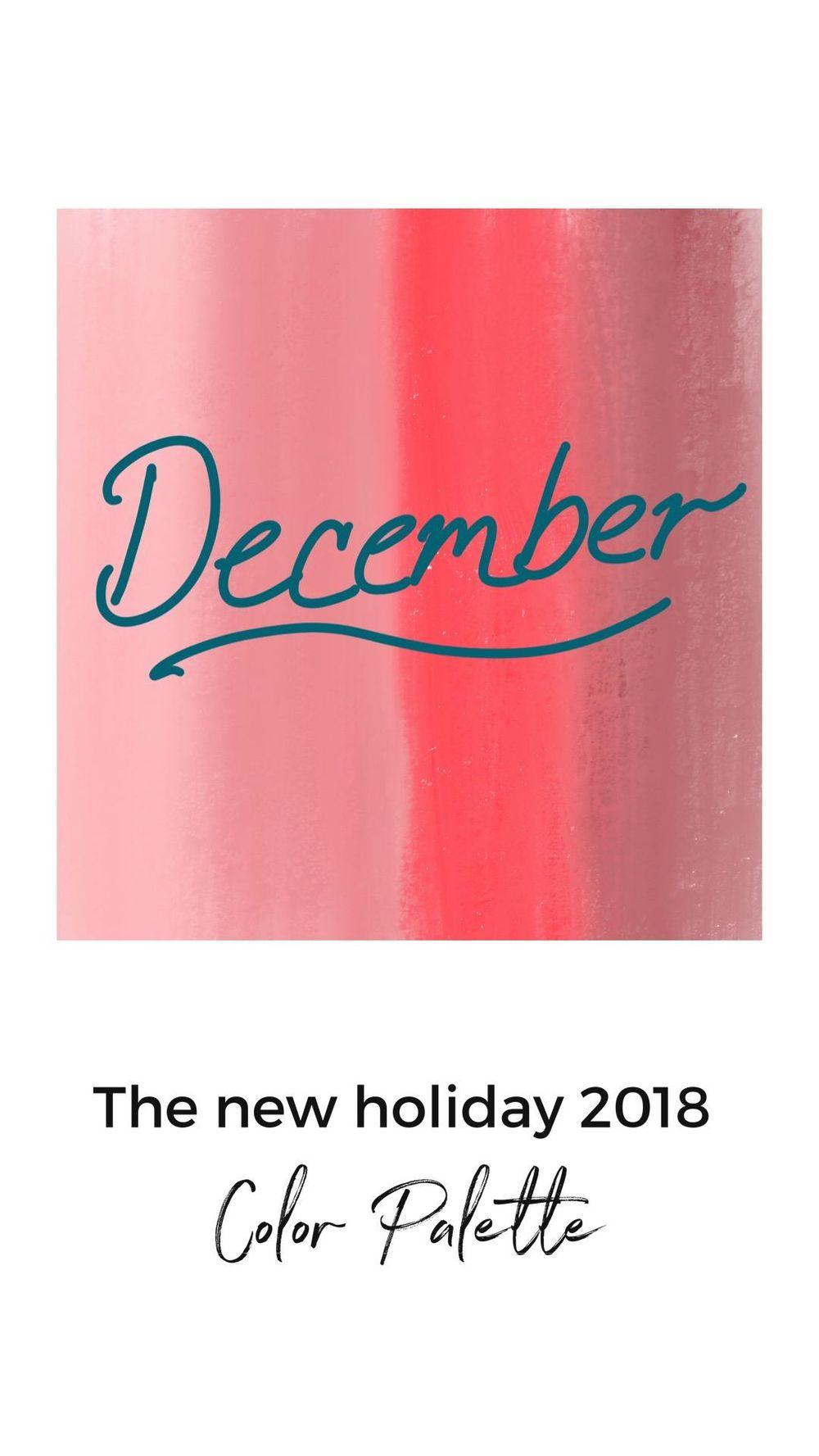 New December Color Palette - image 2 - student project