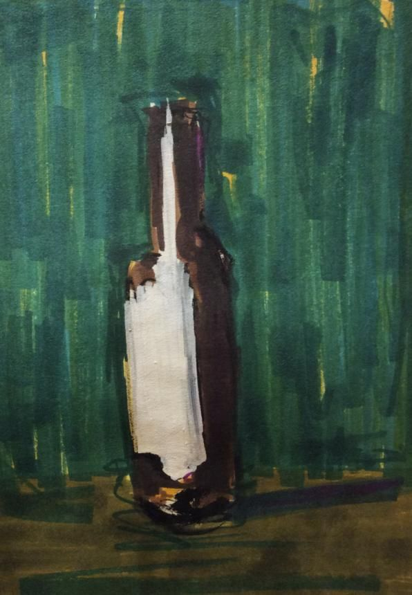 Loose painting // Wine bottle  - image 2 - student project
