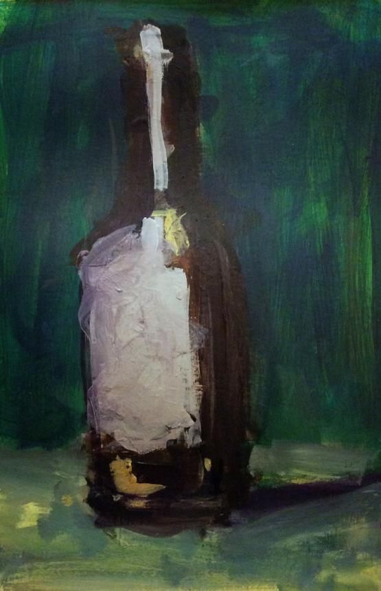 Loose painting // Wine bottle  - image 1 - student project