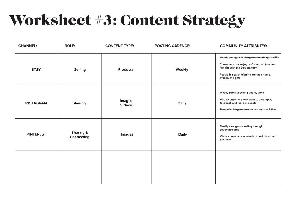 Personal Brand Worksheet - image 3 - student project