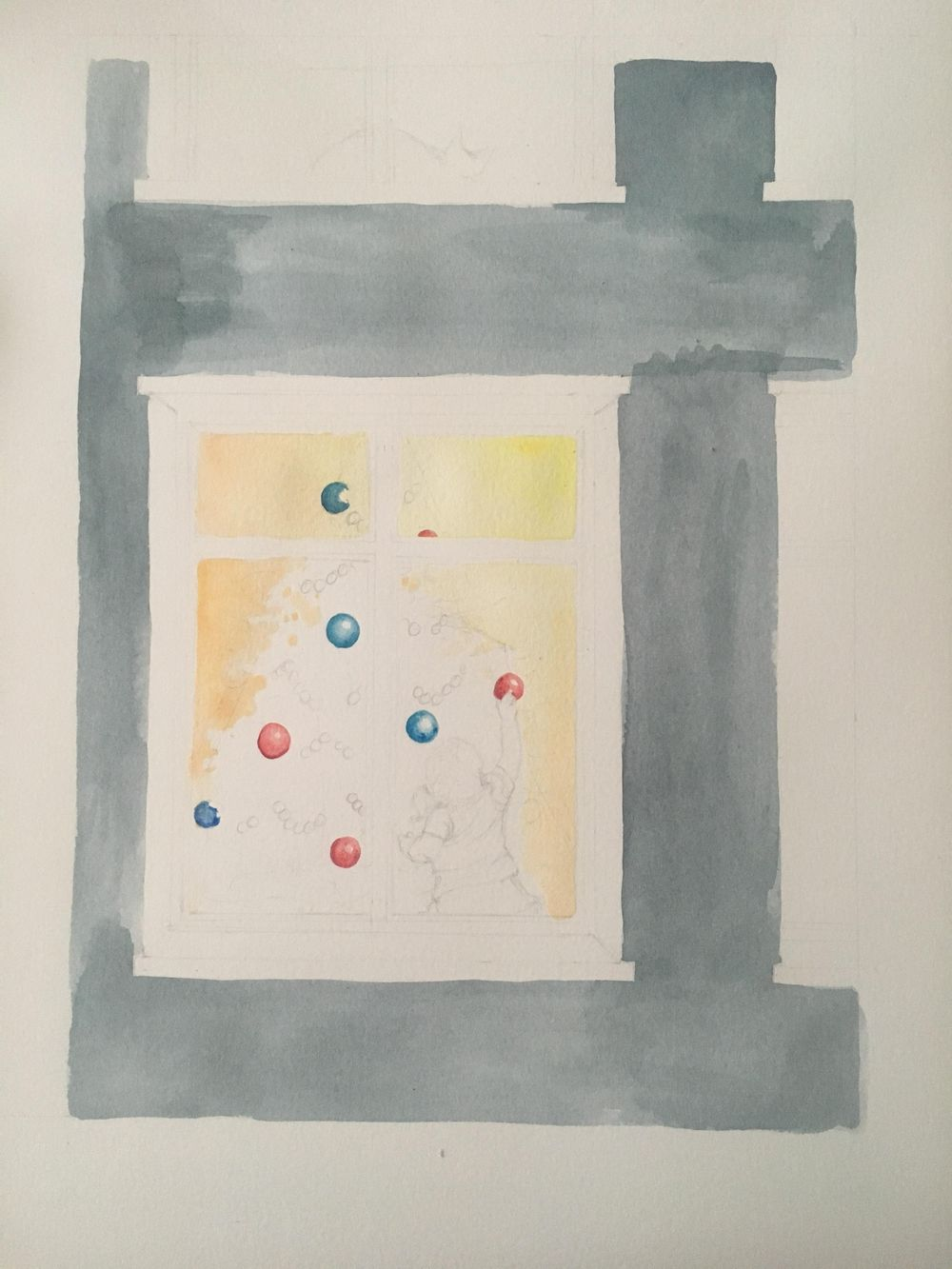 Christmas Watercolour - image 4 - student project