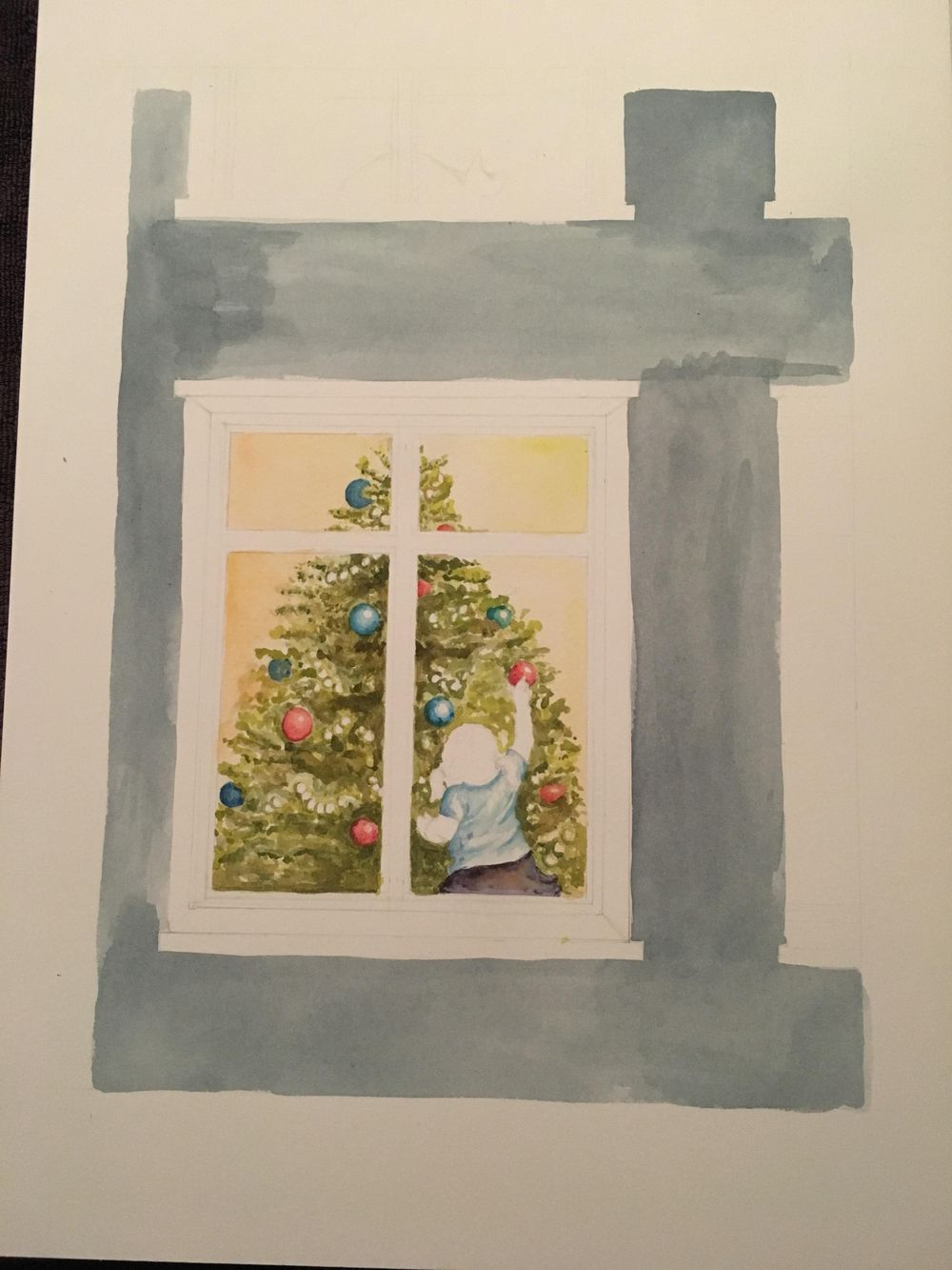 Christmas Watercolour - image 3 - student project