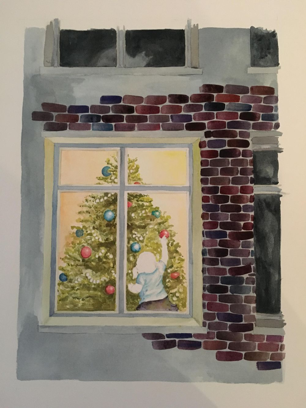 Christmas Watercolour - image 2 - student project