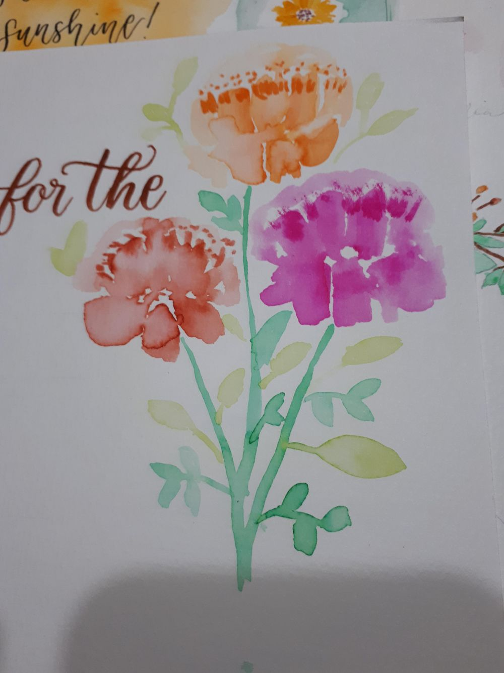 Brush Pen Loose Florals Watercolor Painting Trial - image 1 - student project