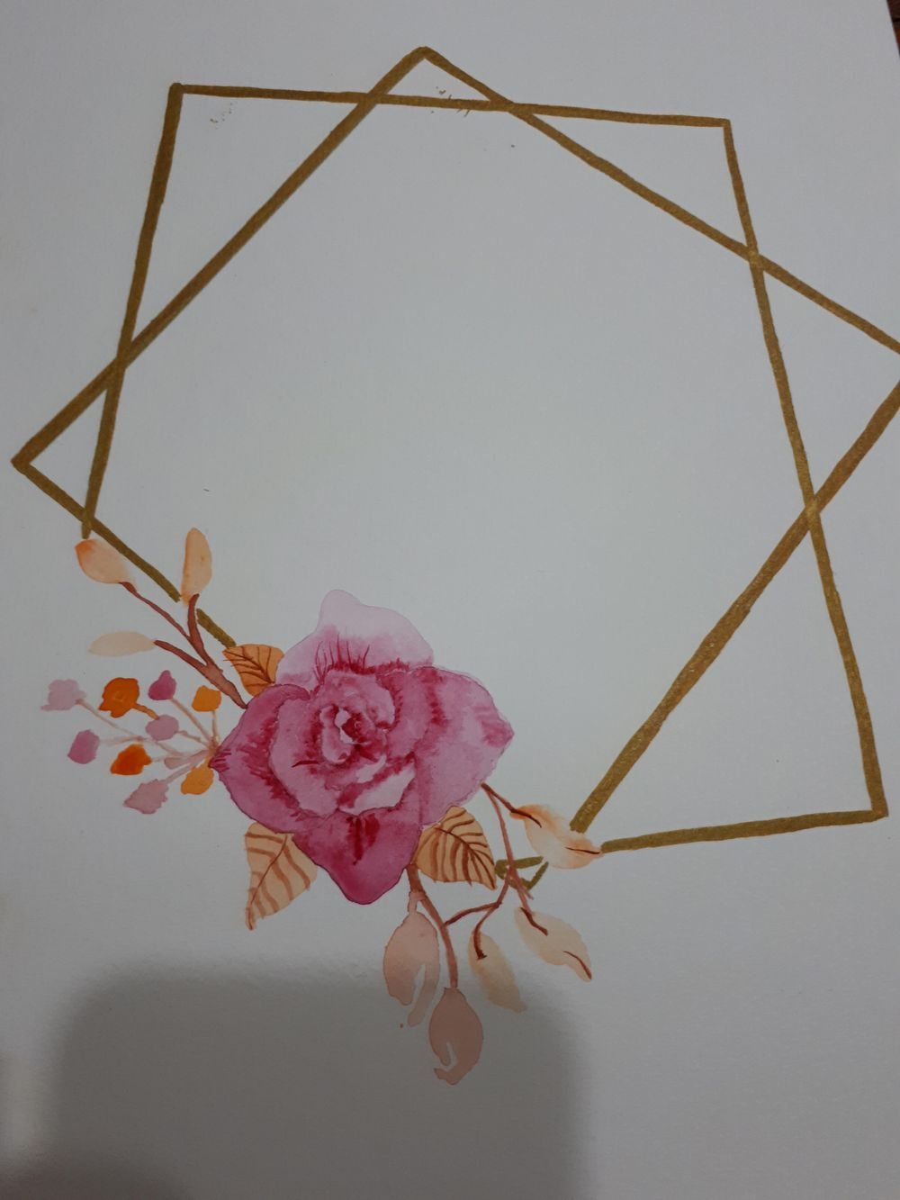 Geometrical Flower Wreath Trial - image 1 - student project