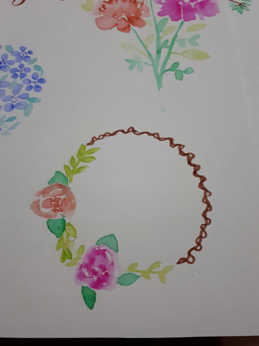 Brush Pen Loose Florals Watercolor Painting Trial - image 3 - student project