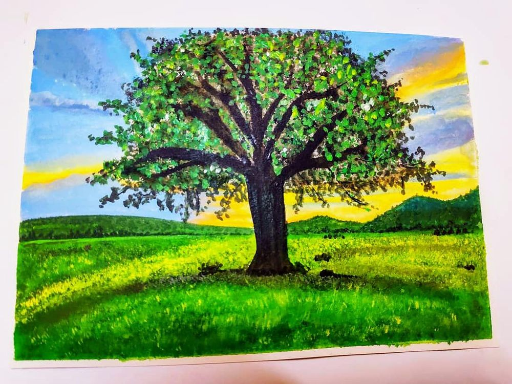 Acrylic Landscape Painting for Beginners - image 1 - student project