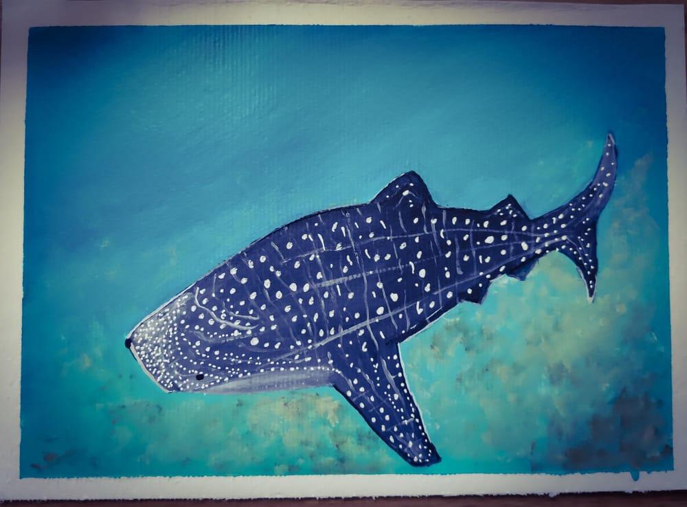 UnderWater Life Painting (Acrylic Medium) - image 1 - student project