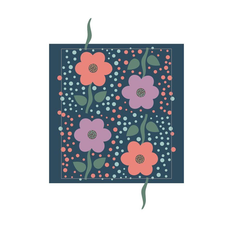 Valerie Funk - Flower Pattern - image 1 - student project