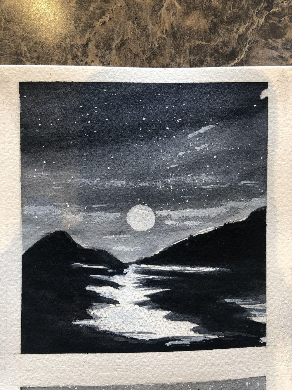 6 B & W Water Color - image 2 - student project