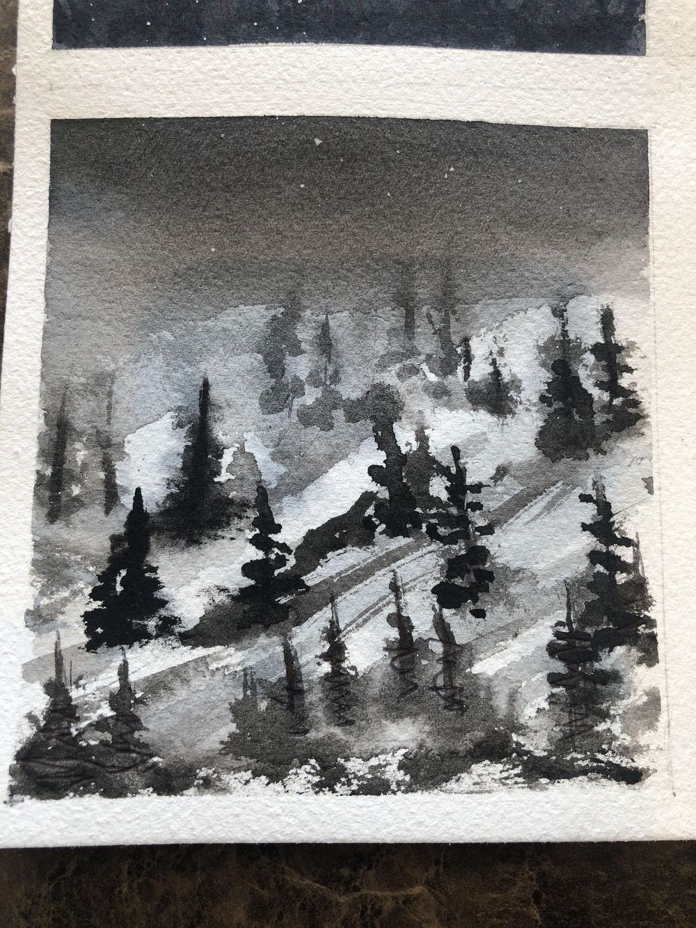 6 B & W Water Color - image 4 - student project