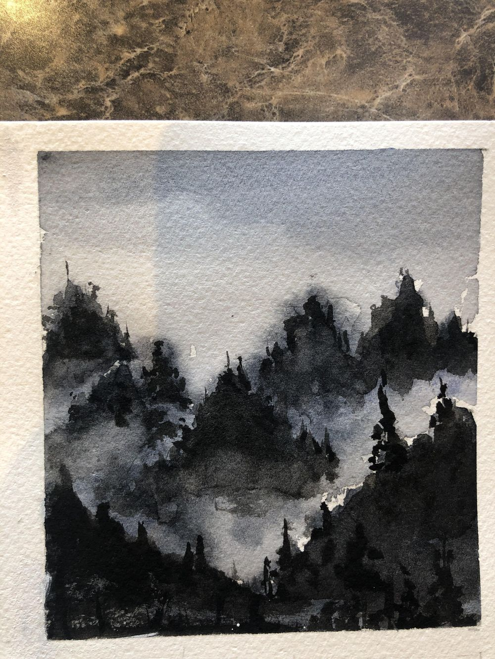 6 B & W Water Color - image 3 - student project
