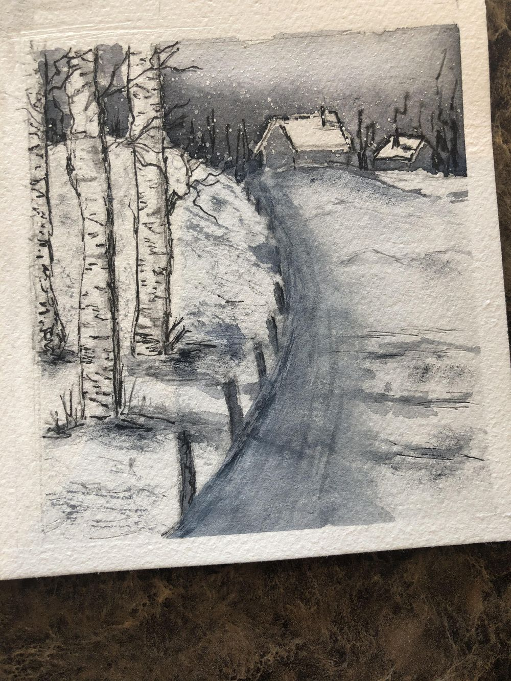 6 B & W Water Color - image 6 - student project
