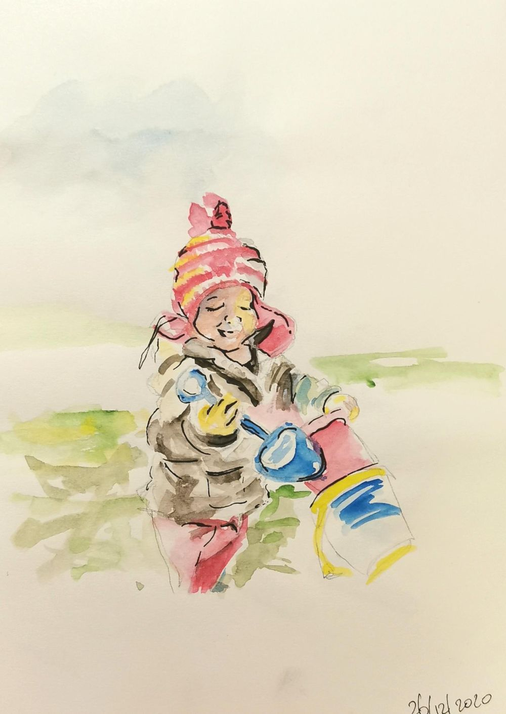 sketching people with watercolor and fountain pen - image 3 - student project