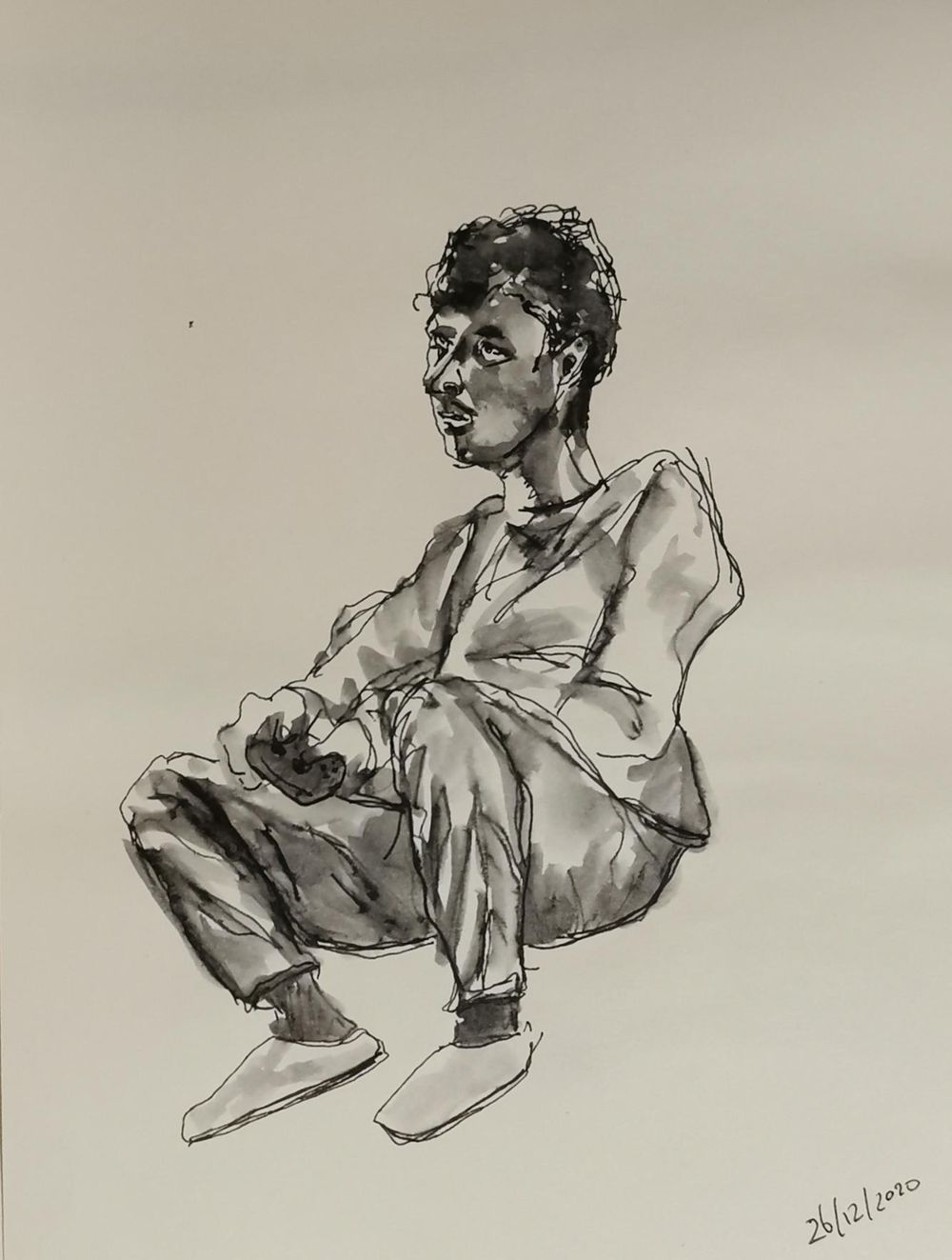 sketching people with watercolor and fountain pen - image 2 - student project